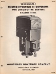PG series locomotive governor manual from 70 years ago.