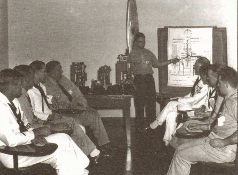1942 Woodward training on diesel governor theory.jpg