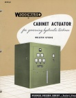 WOODWARD CABINET ACTUATOR GOVERNOR SYSTEM.