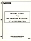 MANUAL 07057A  AUXILIARY DEVICES FOR HYDRAULIC ACTUATORS
