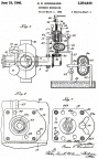 Elmer E. Woodward's propeller engine governor patent 2204640