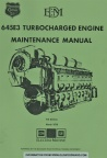 EMD diesel engine 645E3 series maintenance manual cover.