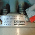 The Lucas Aerospace name plate on the jet engine fuel control in the Oldwoodward.com collection.  2