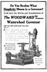 WOODWARD'S NEW TYPE OF OIL PRESSURE WATER WHEEL GOVERNOR  GATESHAFT TYPE  CIRCA 1917-xx