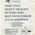 A Lucas Aerospace Company advertisement.