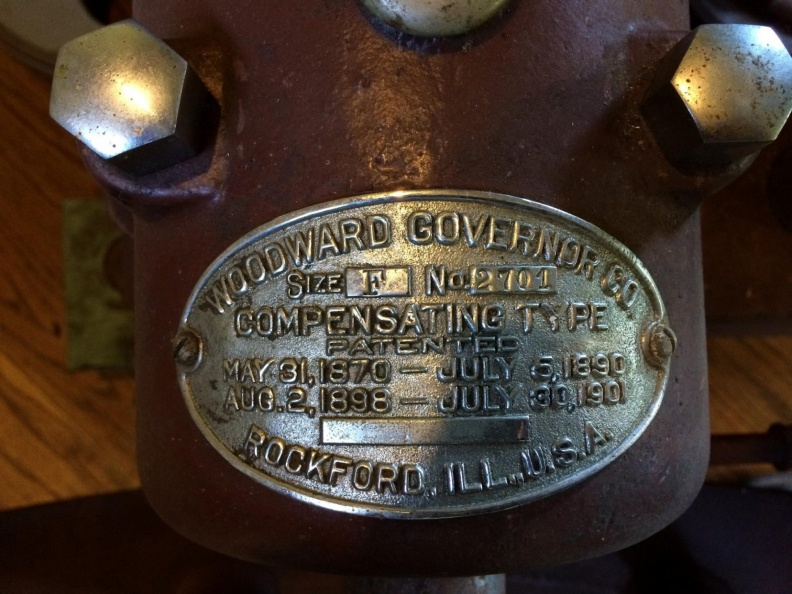 Woodward Governor Company's mechanical water wheel governor F series control..jpg