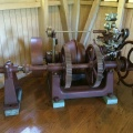 A beautifully restored Woodward Horizontal Compensating Water Wheel Governor.