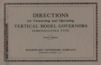 Woodward instruction booklet sent with letter dated 11-24-1926.