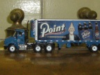 A Stevens Point Brewery model truck on the vintage wort grant.