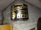 Stevens Point Brewery corner beer sign from the 1920's.