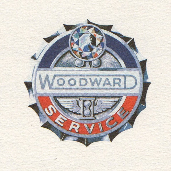 Woodward Company quality service emblem for the last 148 years of Prime Mover Controls.