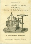 SNOW GOVERNOR PATENT