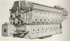 An EMD 2 stroke 567 series diesel engine with a Woodward SI governor.