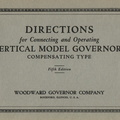 An original Woodward catalogue for the vertical type governor.