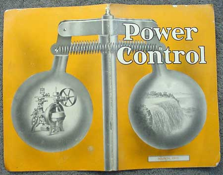 Woodward Governor Company's Power Control pamplet from 1911