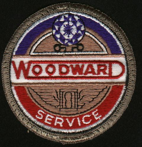 Woodward 25 year's of service worker member uniform patch.