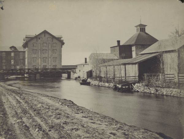 Farwell's Grist Mill on the Yahara River, circa 1860's.
