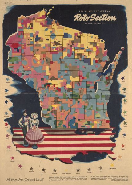 1941 map of Wisconsin.